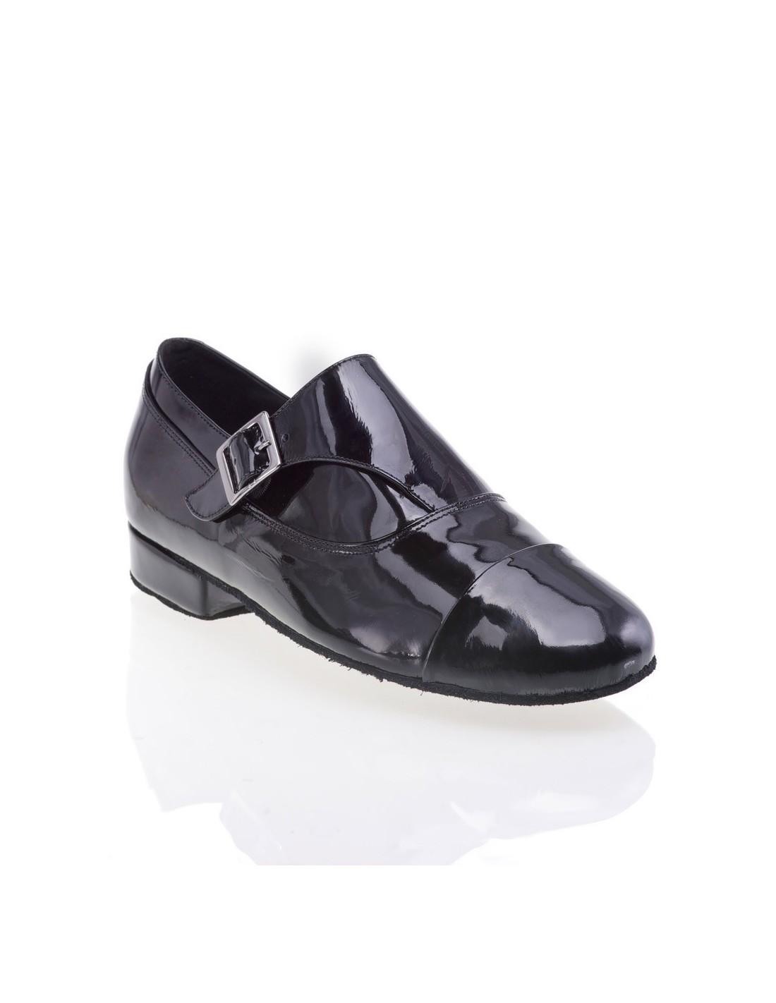 Chaussures danse salon cuir noir semi transparente ...
