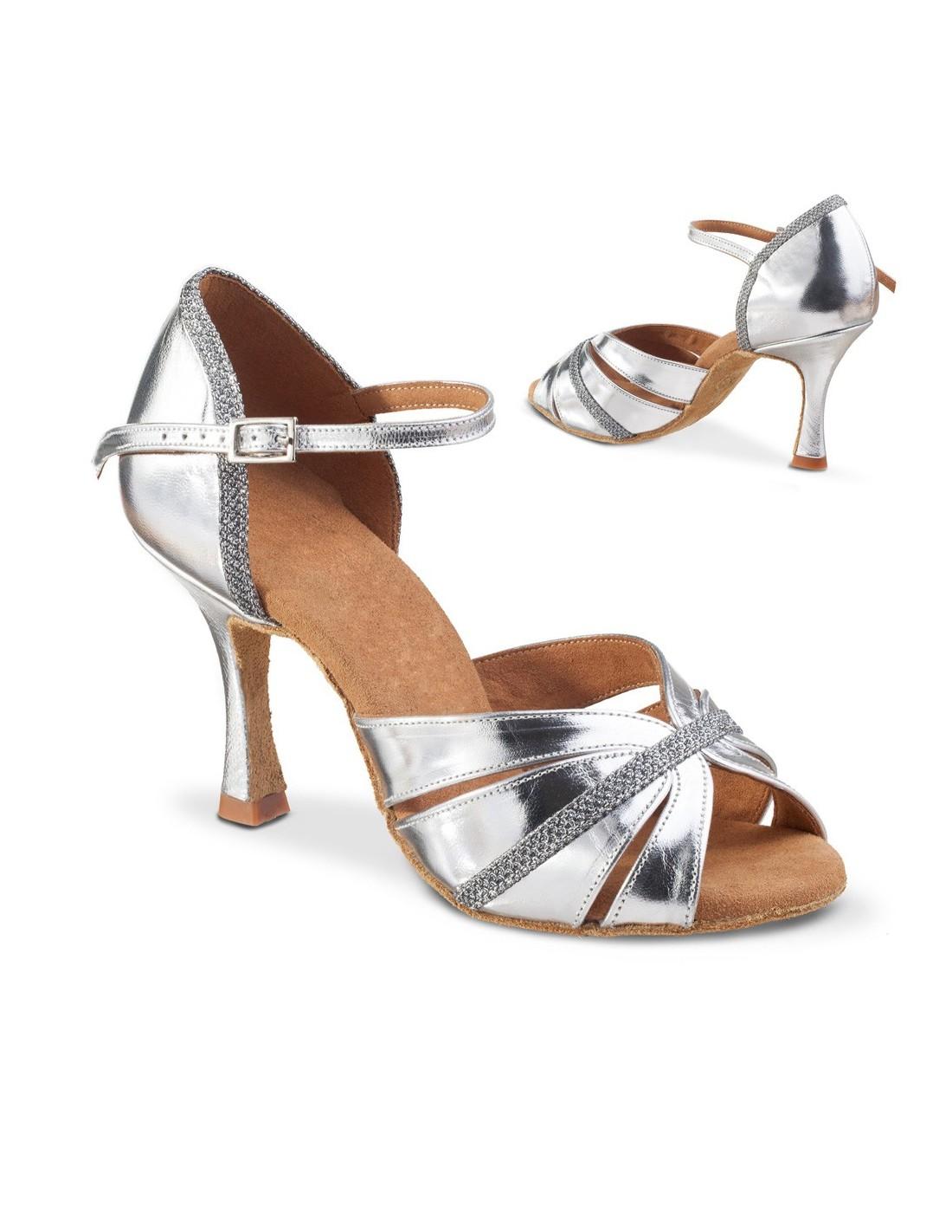 Chaussures de danse de salon noir satin boule strass - Nom de danse de salon ...