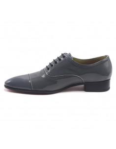 Chaussures danse salon cuir argent élégantes