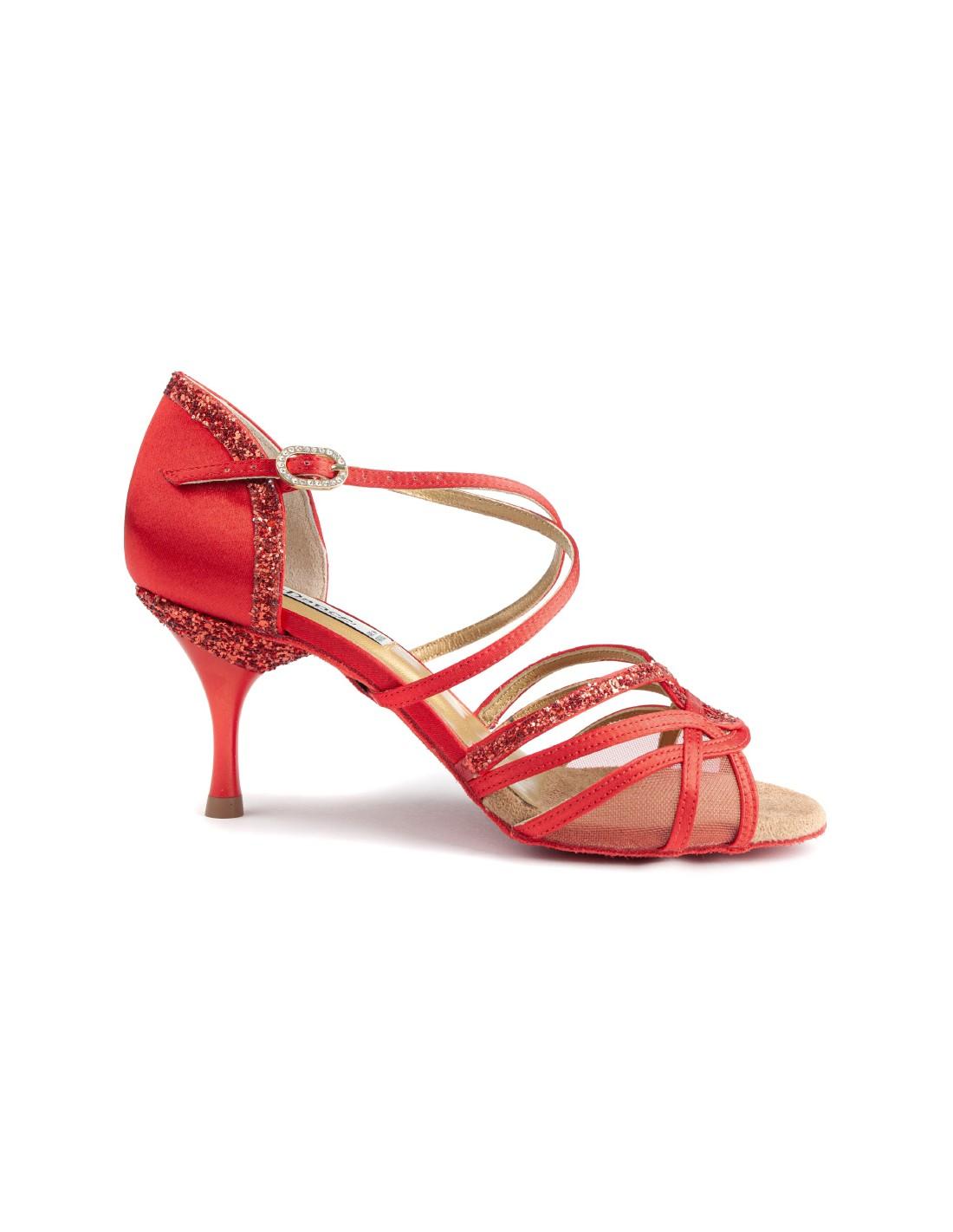Chaussures danse salon satin cuivre meschaussuresetmoi for Chaussures de danse de salon toulouse