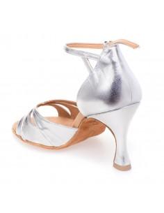 Chaussures danse salon satin cuivre classiques