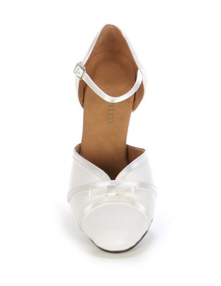 Chaussures de danse de salon satin noir élégantes