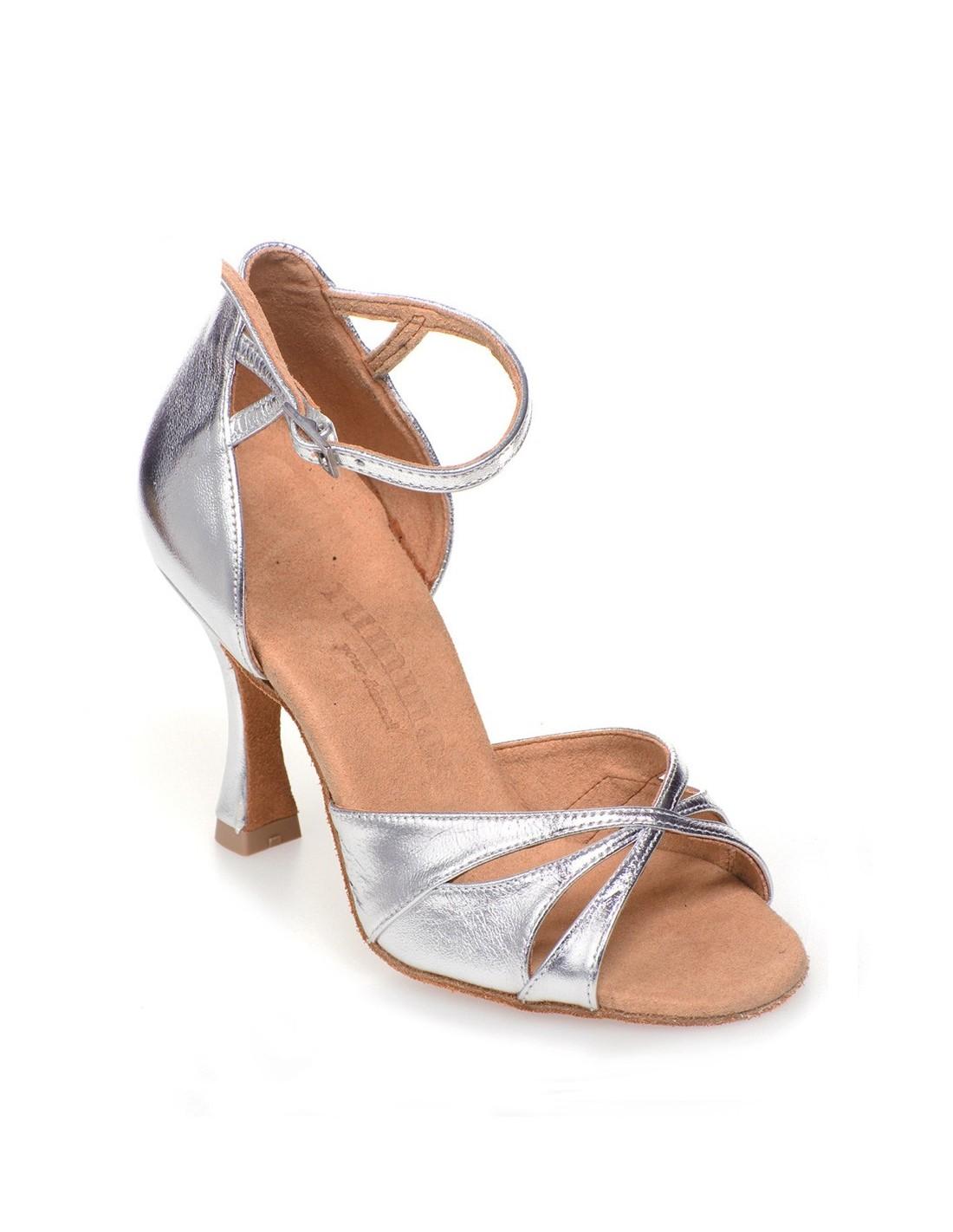 Chaussures de danse de salon satin cuivre et strass for Chaussures de danse de salon toulouse