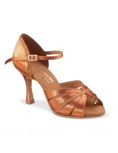 Chaussures danse salon cuir argent