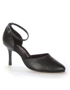 Low boots rock cuir noir cloutées femme