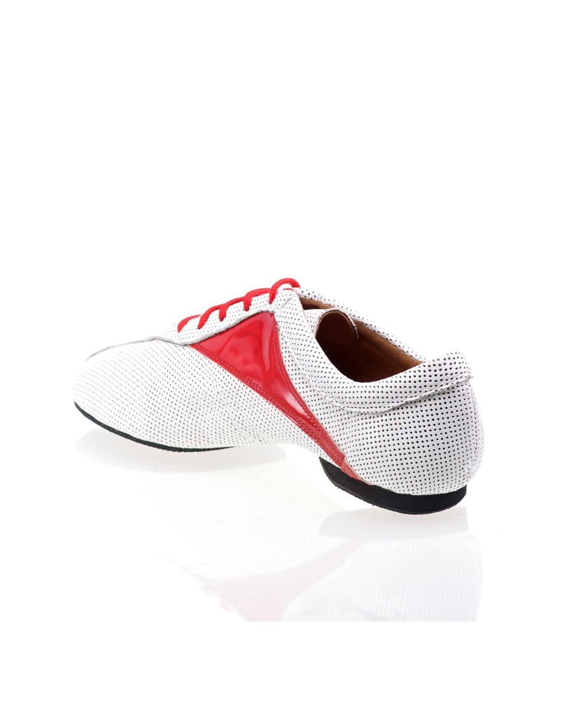 973c1bc769bfc Chaussures de danse forme Salomé en cuir argent pour la Salsa ou bachata