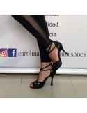 Chaussures ville homme cuir noir talon acier