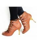 Chaussures ville homme cuir noir boucles acier et talon acier